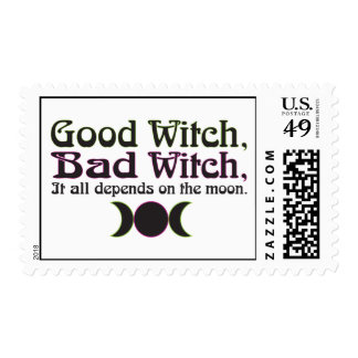 Good Witch Bad Witch Postage Stamps