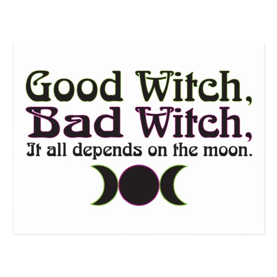 """""""Good Witch, Bad Witch..."""" Postcards"""
