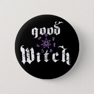 Good Witch Button Drk