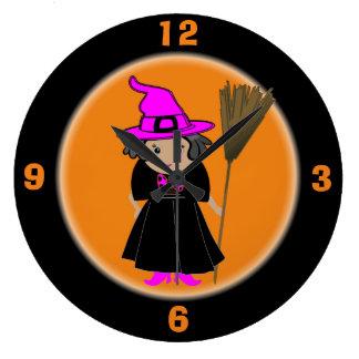 Good Witch Clock - Kid Friendly Halloween Decor