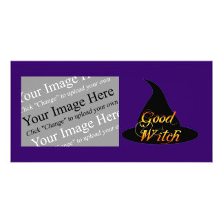 Good Witch Custom Halloween Photo Card