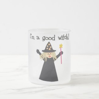 Good Witch Frosted Glass Coffee Mug