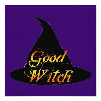 Good Witch Halloween Art Invitations