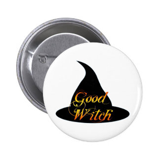 Good Witch Halloween Saying Button