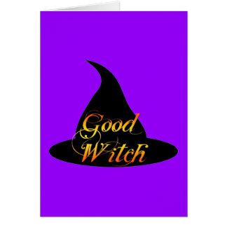 Good Witch Halloween Saying Card