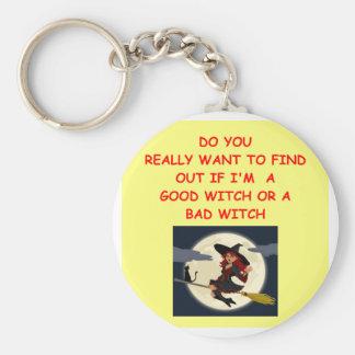 good witch key chain