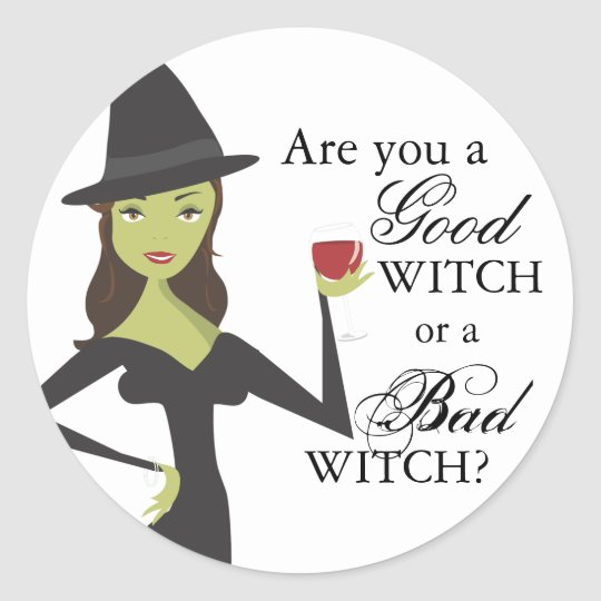 Good Witch or Bad Witch Halloween Sticker