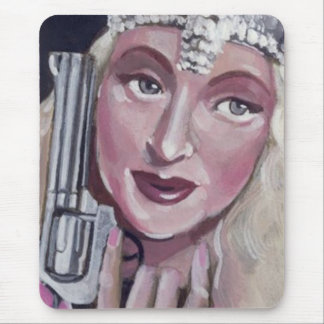 Good Witch w/ Gun Mouse Pad