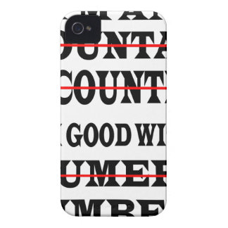 GOOD WITH NUMBERS iPhone 4 Case-Mate CASE