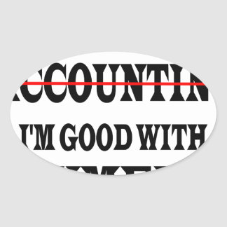GOOD WITH NUMBERS OVAL STICKER