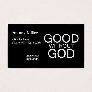 Good Without God Business Card