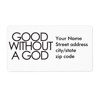 Good without god personalized shipping label