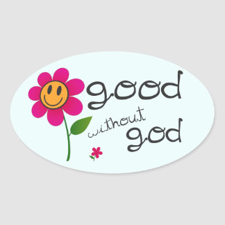 Good without god (with happy flower) Stickers