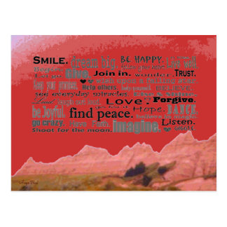 good words art post cards