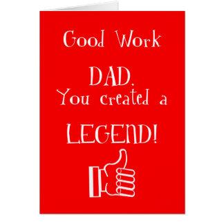 Good work Dad Card