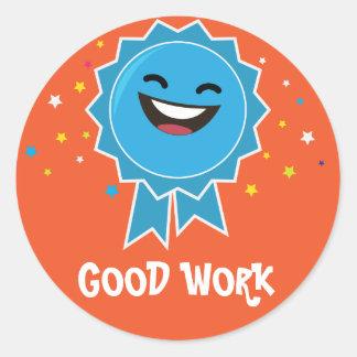 Good work educational sticker