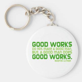 Good Works Do Not Make a Good Man Basic Round Button Keychain