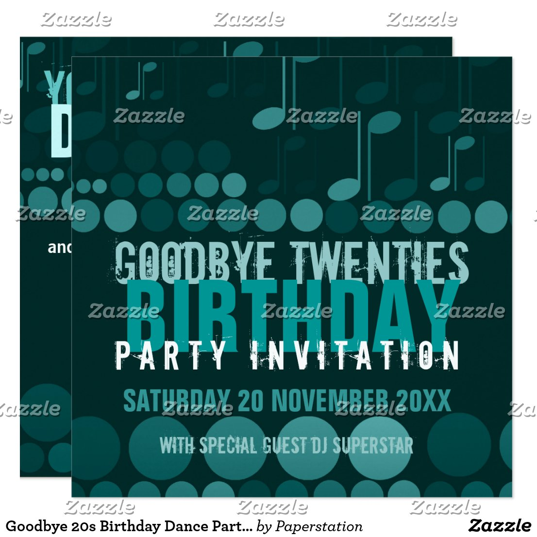 Goodbye 20s Birthday Dance Party Invitation