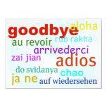 "Goodbye 4.5"" X 6.25"" Invitation Card"