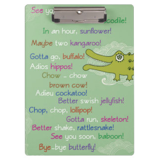 Goodbye and Good luck from Group, Alligator Clipboard