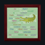 "Goodbye and Good luck from Group, Alligator Gift Box<br><div class=""desc"">Everyone has a different way to say goodbye and good luck to people leaving. This cute card says it in many fun ways,  starting with See you later,  Alligator!</div>"