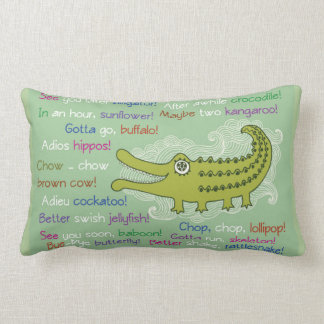 Goodbye and Good luck from Group, Alligator Throw Pillow