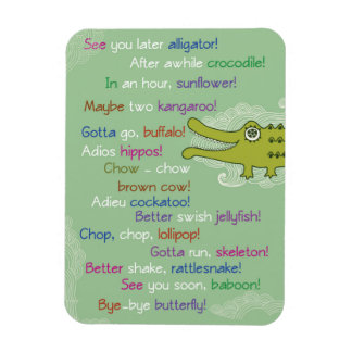 Goodbye and Good luck from Group, Alligator Rectangular Photo Magnet