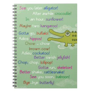 Goodbye and Good luck from Group, Alligator Spiral Notebook