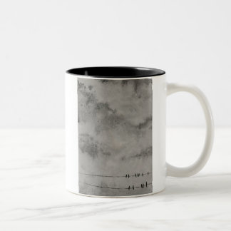 goodbye blue sky Two-Tone coffee mug