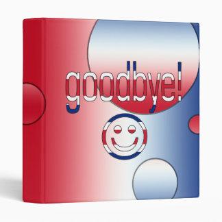 Goodbye! Britain Flag Colors Pop Art Binder