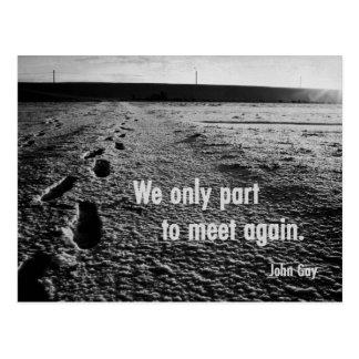 goodbye but we will meet again! postcard