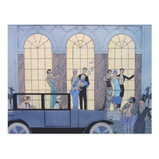 Goodbye by George Barbier Postcard
