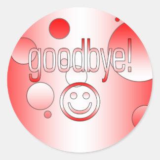 Goodbye! Canada Flag Colors Pop Art Classic Round Sticker