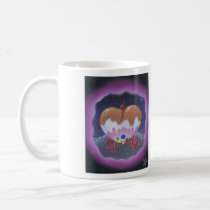 sugar, fueled, michael, banks, heart, candy, sweets, lowbrow, creepy, cute, pop, surrealism, roses, adorable, cuddly, Mug with custom graphic design