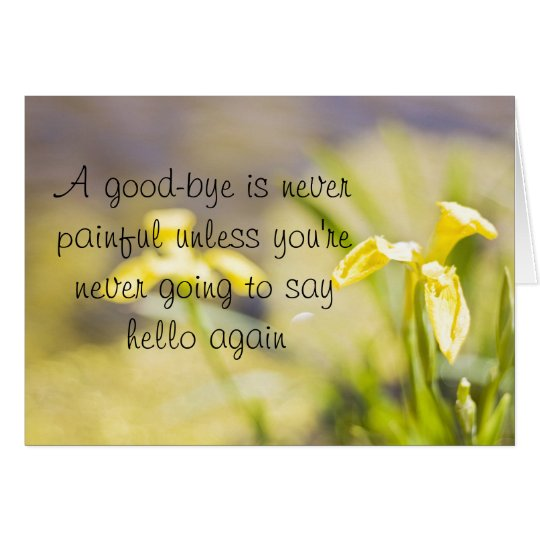 Goodbye daffodil greetingcard card