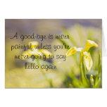 Goodbye daffodil greetingcard greeting card