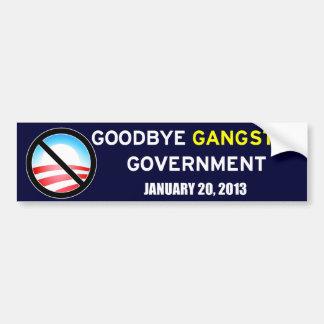 Goodbye Gangster Government Bumper Sticker
