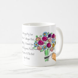 Goodbye Gift Personalized Flowers Woman Coffee Mug