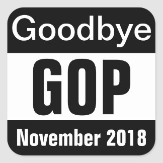 Goodbye GOP Square Sticker