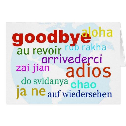 Farewell Greeting Cards Goodbye greeting card