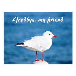 Goodbye Gull Sayonara Auf Wiedersehen Despedida Postcard