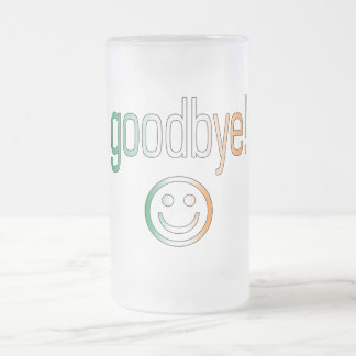 Goodbye! Ireland Flag Colors Frosted Glass Beer Mug