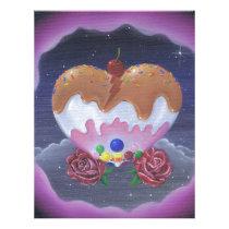 sugar, fueled, michael, banks, heart, candy, sweets, lowbrow, creepy, cute, pop, surrealism, roses, adorable, cuddly, Papel de cartas com design gráfico personalizado