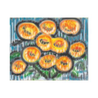 'Goodbye Marigolds' 20x16 Premium Canvas (Gloss)