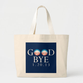 GOODBYE Obama Large Tote Bag