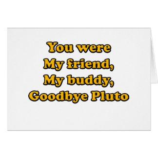 Goodbye Pluto Cards