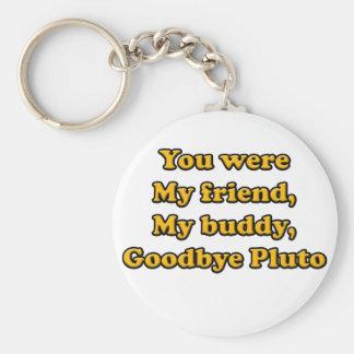 Goodbye Pluto Keychain
