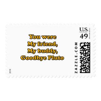 Goodbye Pluto Postage Stamp