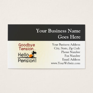 Retired Business Cards Templates Zazzle