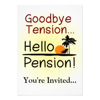 Goodbye Tension, Hello Pension Funny Retirement ...